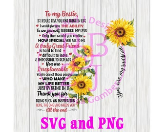 To my Bestie Sunflower SVG