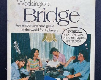 Vintage 1980 Waddingtons Bridge Card Game. With beginners guide book. Cards still sealed