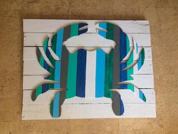 large wood Crab wall artcrab decorcrab wall artcrab | Etsy