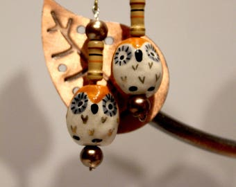 Upcycled Owl and Resistor Earrings