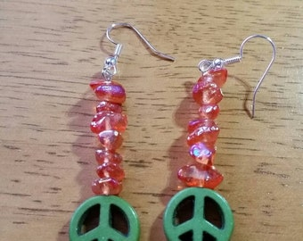 Green Peace Earrings