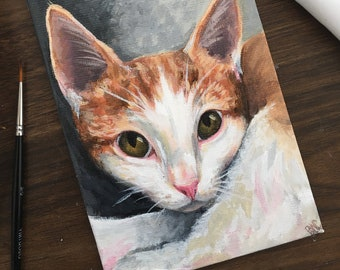 Personalized, 4x6 Pet Portrait Painting