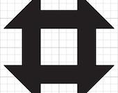 Churn Dash Quilt Block SVG file