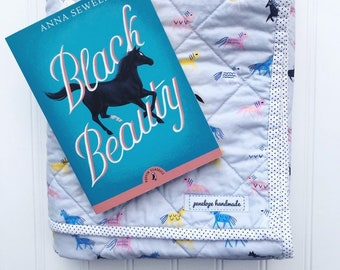 Cloud 9 Organic Horse Baby Quilt and Book set