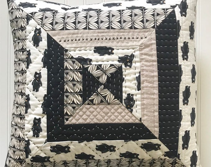 Featured listing image: Neutral Handquilted Throw Pillow Cover