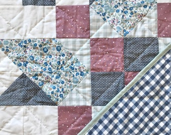 Boulted 2.0 Farmhouse Quilt// Baby/Wall Hanging