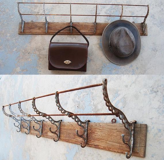 Antique Coat Rack Victorian 40 Six Hook Wall Mount Hat Rack Etsy Adorable Antique Coat Rack Hooks
