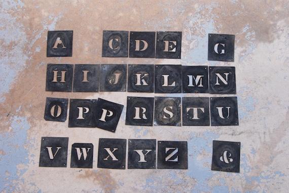 antique letter stencils french zinc metal alphabet stencil set