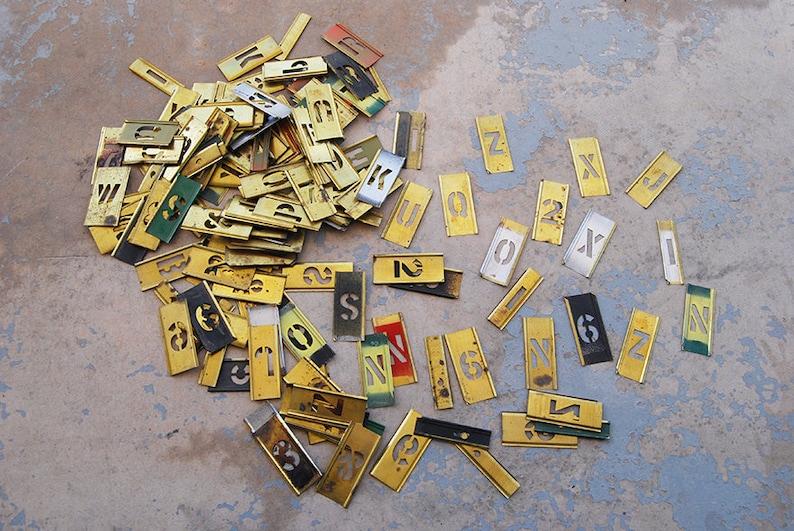 vintage Letter Stencils 175 Industrial Stencils Brass Metal Alphabet  Stencil Set Lockedge Adjustable Stencils