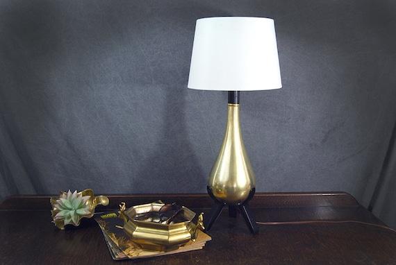 Mid Century Modern Brass Lamp Vintage Teardrop Lamp Brass Etsy