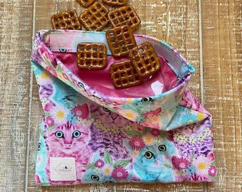 Pink Humpback Whales Zero Waste Lunch Baggie Reusable Sandwich Bag Snack Bag Lunch Bag Reusable Ziploc Bag Eco Friendly -