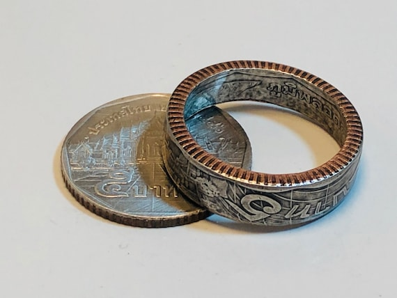 Size 7-13 Newfoundland Penny Coin Ring 100 Year Old Coin Hand Made
