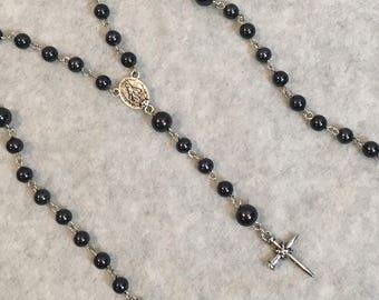 Black Beaded Rosary