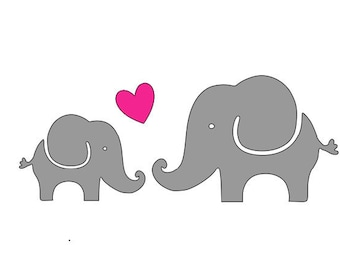 Elephant silhouette   Etsy