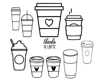 Coffee Cup Svg Etsy