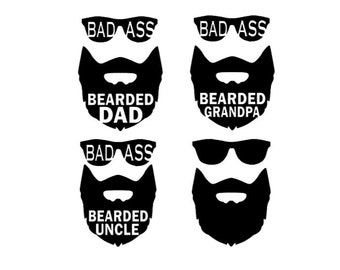 Bearded Dad Svg Etsy