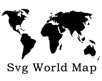 World map silhouette | Etsy
