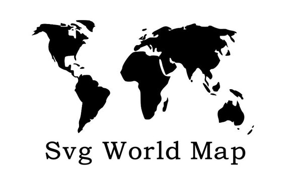 World Map Svg File World Map Wall Art Travel Svg World Etsy