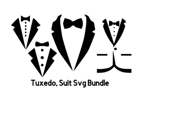 Tuxedo Svg Files For Cricut Bow Tie Bundle Suit Svg Shirt Etsy