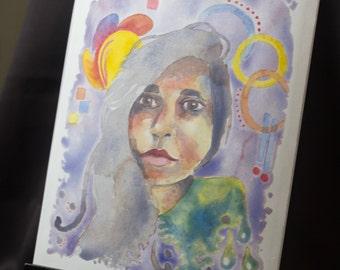 "Watercolor Portrait Study #5: 8x10"" Original Art"