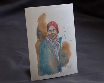 "Watercolor Portrait Study #4: 5x7"" Original Art"