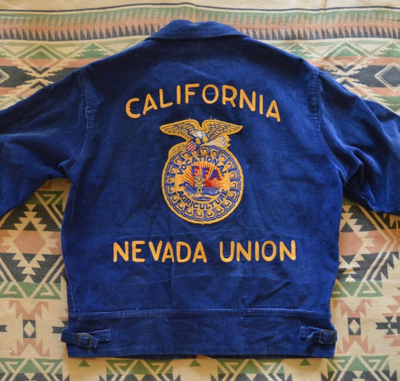 1950's FFA jacket, California, Nevada, Talon zippe