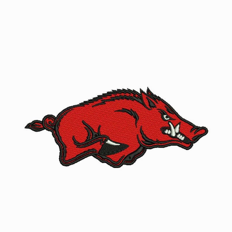 Arkansas Razorbacks Embroidery Design 7 Size Instant Download Etsy