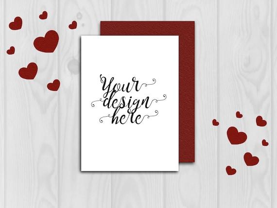 Mockup Card Mockup Valentine Mockup Wedding Card Mockup Etsy