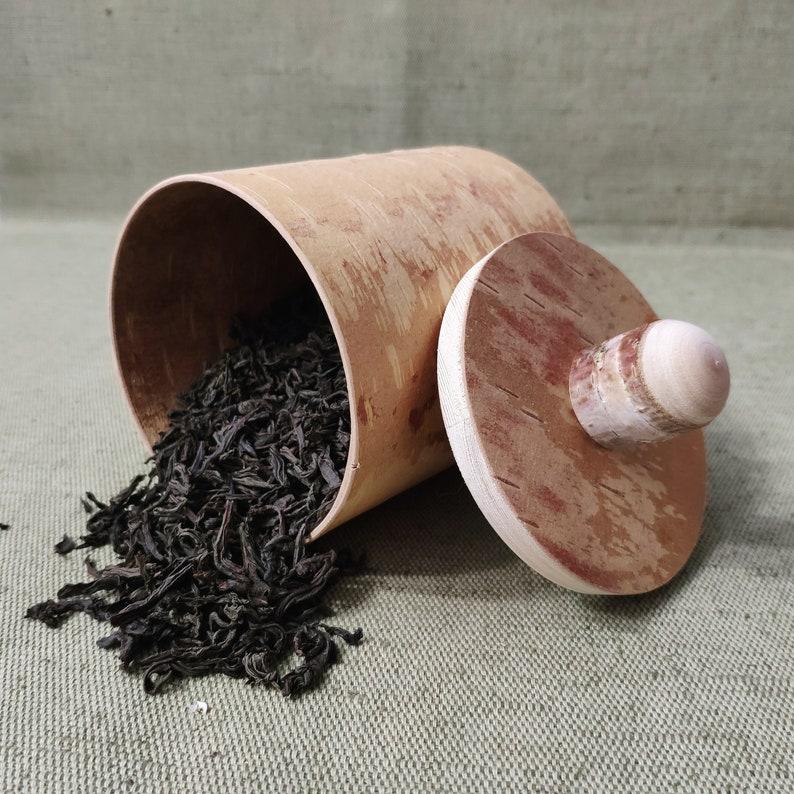 Birch bark tea container