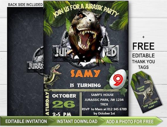 Jurassic World Party Invitation