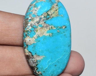 Natural Tibetan Turquoise Cabochon 28 x 35 x 7 mm Tibetan Turquoise Gemstone  Smooth Cabochon Amazing Turquoise Jewelry #994