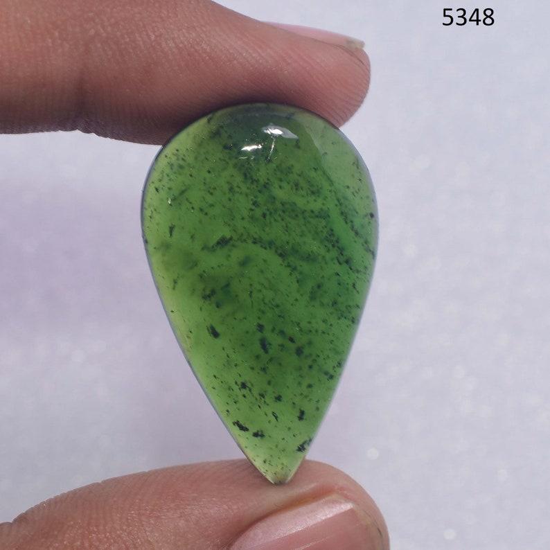 Jewelry Making Stone Natural Nephrite Jade Cabochon Loose Nephrite Jade Cabochon Green Nephrite Jade gemstone Cabochon