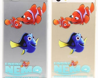 Disney Cartoon Finding Nemo Fish Clear Rubber PC Back Full Case Cover For iPhone 5S / SE / 6 / 6S