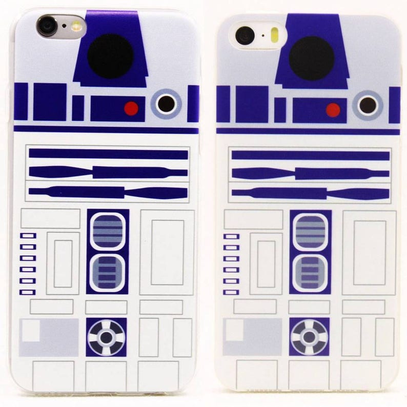 Ultra Thin Star Wars Star Wars R2D2 Robot TPU Clear Rubber Back Full Case  Cover For iPhone 5 / 5S / SE / 6 / 6S