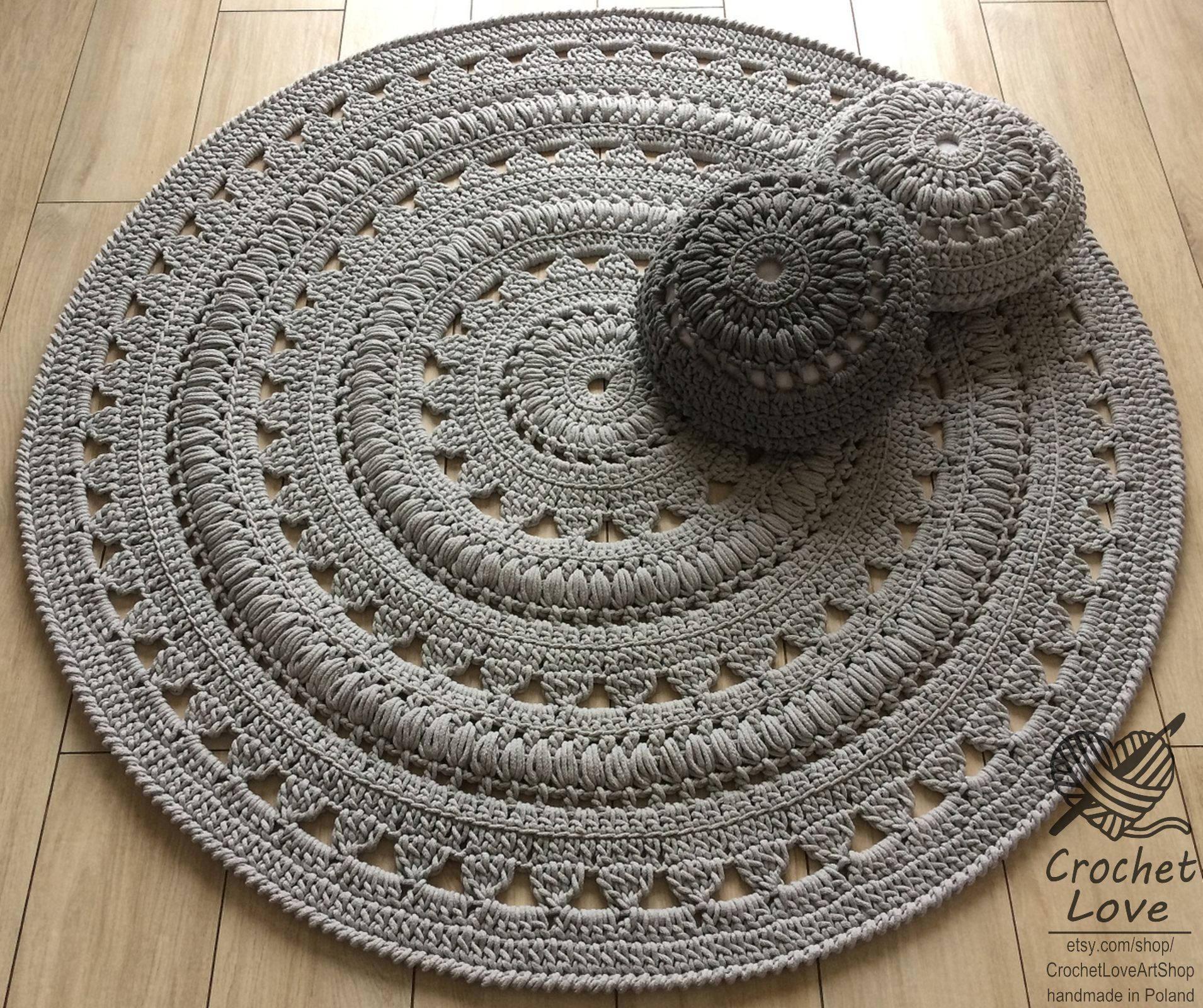 Häkeln Teppich Deckchen Teppich runder Teppich häkeln