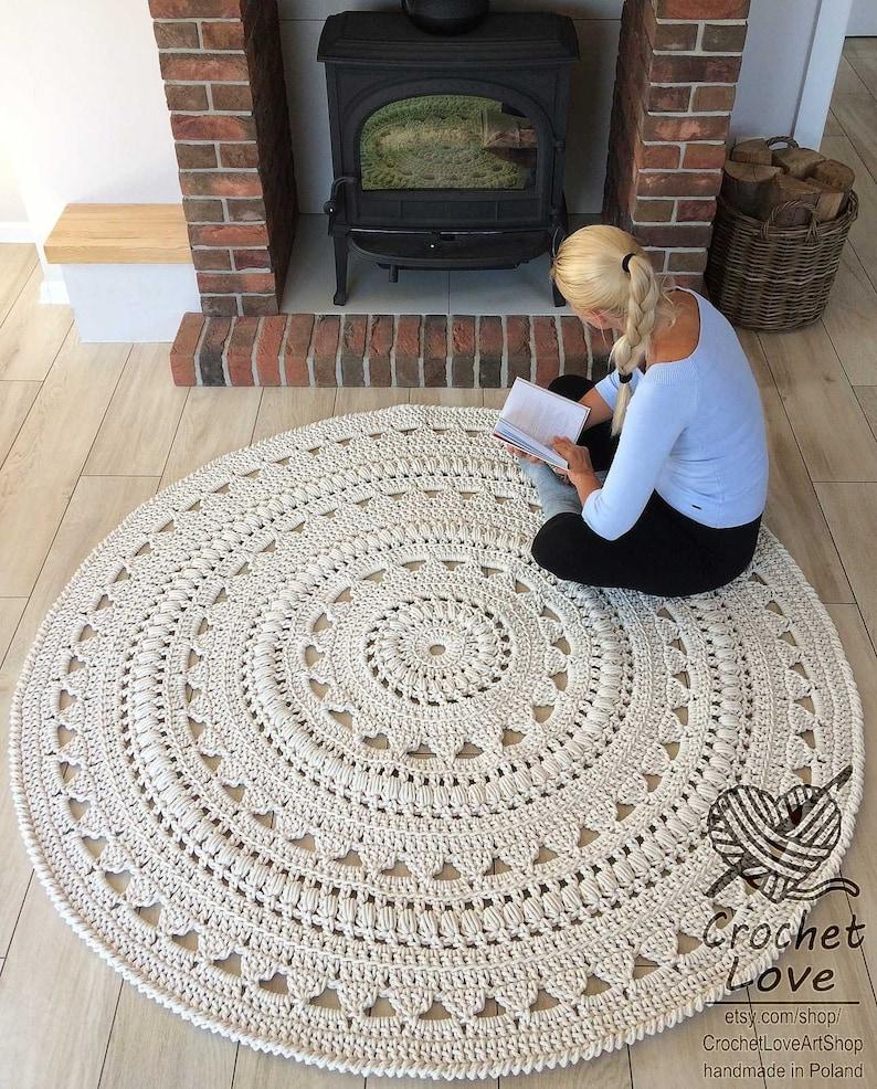 Bekannt HÄKELN Teppich Deckchen Teppich runder Teppich häkeln | Etsy OQ76