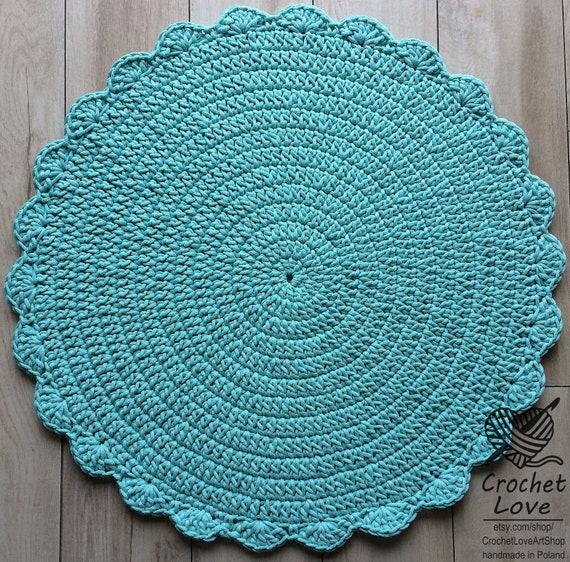 Viele Farben Viele Größen Moderne Häkeln Teppich Runder Etsy