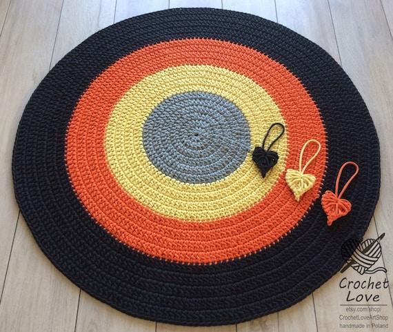 Moderne häkeln Teppich Runde häkeln Teppich Kinder-Teppich | Etsy