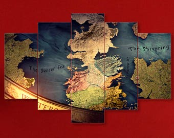 Game of thrones map etsy map of the westeros got canvas westeros game of thrones canvas westeros map game of thrones got wall art got print winter is coming gumiabroncs Image collections
