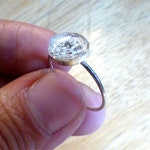 Sterling Silver Cremation Ring - Cremation Jewelry - Ash Ring - Urn Ring - Memorial Keepsake - Pet - Simple - Raw stone