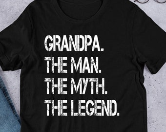 39bf5f61 Grandpa Fathers Day Gift Shirt for Grandpa The Man The Myth The Legend  Grandfather Gift TShirt Unique Gifts for Grandpas Great Grandpa Gift