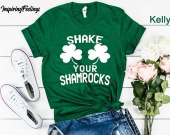 973d1f3ea7 Shake Your Shamrocks Shirt Womens St Patricks Day Tee, Funny St Patricks Day  Gift Shirt Women Shameless Shamrock Boobs Irish Unisex T Shirts