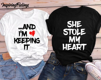 9df4098c4e2 Couples Shirts Valentines Day Gift for Him and Her Matching Tees  Valentine s Gift for Boyfriend and Girlfriend Husband and Wife Couple Gifts