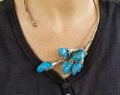Alpaca Silver Necklace Semiprecious Stones