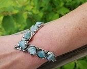 Alpaca Silver Bracelet with Semiprecious Stones