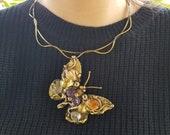 Butterfly Brass Necklace from Brazil