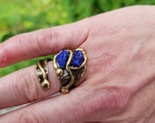 Brass Ring with Semiprecious Stone