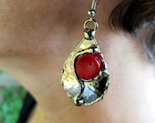 Alpaca Silver Earrings with Semiprecious Stones