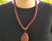 Brass Necklace with Semiprecious Stones from Brazil