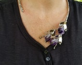Alpaca Silver Necklace with Stones